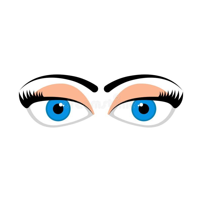 Ojos dudosos aislados stock de ilustración