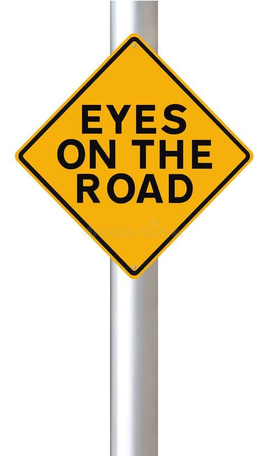 Ojos en el camino imagenes de archivo