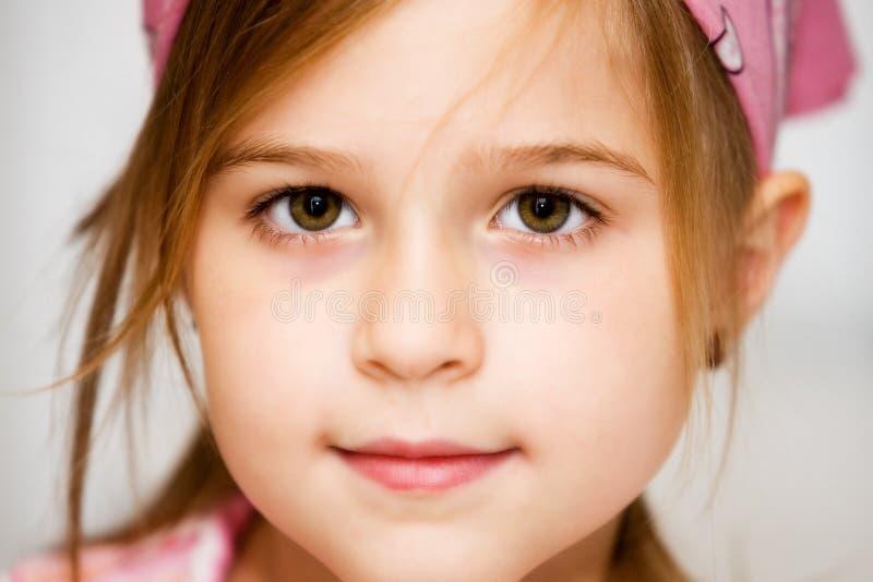 Ojos hermosos de Brown fotografía de archivo