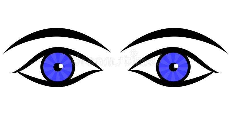 Ojos humanos stock de ilustración
