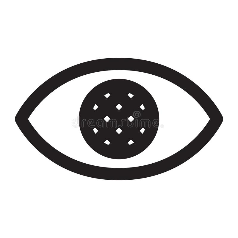 Ojos ocultos stock de ilustración