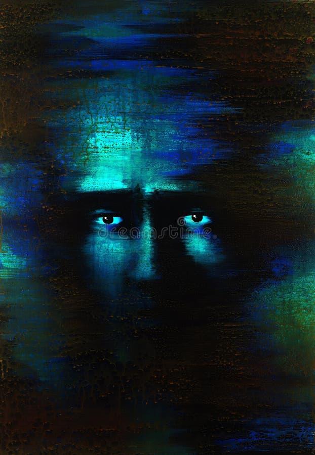 Ojos temerosos stock de ilustración