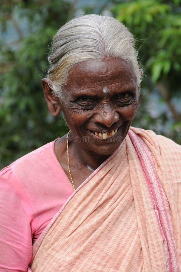 Okänd äldre kvinna från Kandy arkivbild