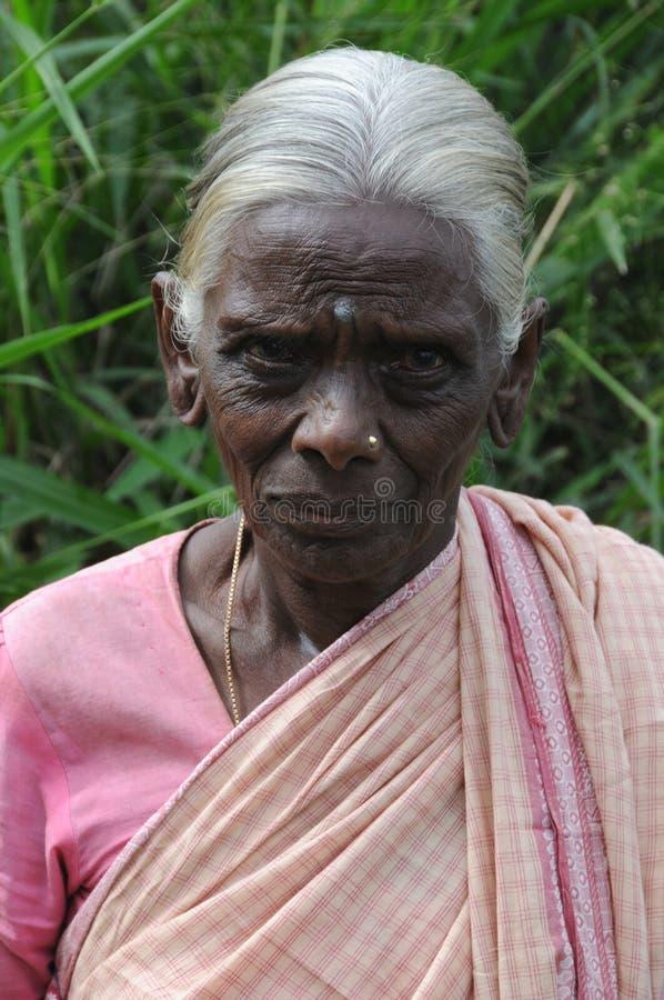 Okänd äldre kvinna från Kandy arkivbilder