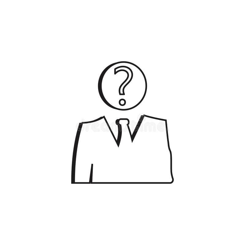 okänd anställdsymbol Detaljerad symbol av headhunting och anställdsymbolen Högvärdig kvalitets- grafisk design En av samlingssymb royaltyfri illustrationer