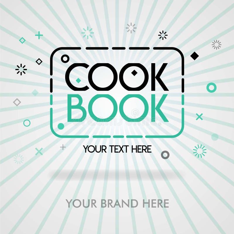 Okładkowa strona najlepszy książka kucharska Ameryka najlepszy przepisy w książkach kucharskich Chińscy przepis książki przepisy  ilustracja wektor