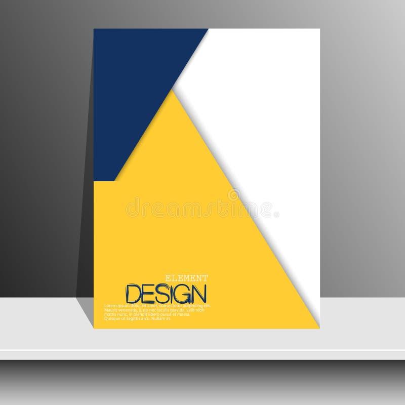 Okładka magazynu barwiący papier ilustracji