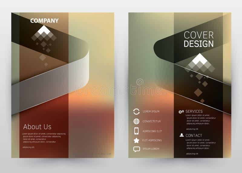 Okładkowego projekta Wektorowego szablonu ustalona broszurka, sprawozdanie roczne, magazyn, plakat, Korporacyjna prezentacja, por ilustracja wektor