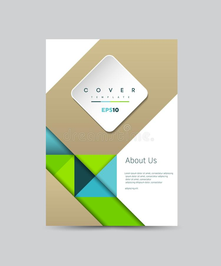 Okładkowego projekta Wektorowy szablon dla broszurki, sprawozdanie roczne, magazyn, plakat, Korporacyjna prezentacja, portfolio,  ilustracji