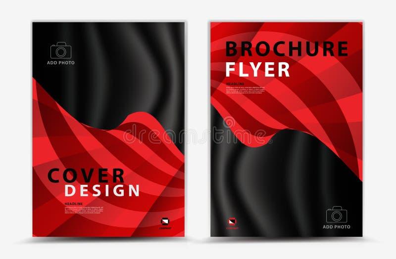Okładkowego szablonu projekt, biznesowa broszurki ulotka, sprawozdanie roczne, mgazine reklama, reklama, książkowej pokrywy układ ilustracja wektor