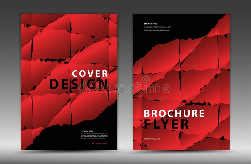 Okładkowego szablonu projekt, biznesowa broszurki ulotka, sprawozdanie roczne, mgazine reklama, reklama, książkowej pokrywy układ ilustracji