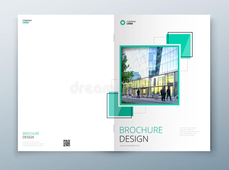 Okładkowy broszurka szablonu projekt Zmrok - błękit Korporacyjnego biznesu sprawozdanie roczne, katalog, magazyn, ulotki mockup k ilustracja wektor
