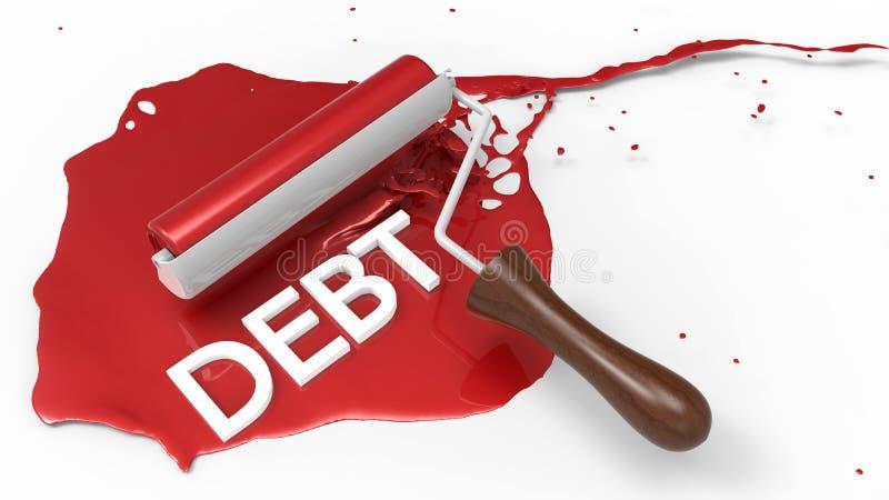 Okładkowy długu pojęcie ilustracja wektor