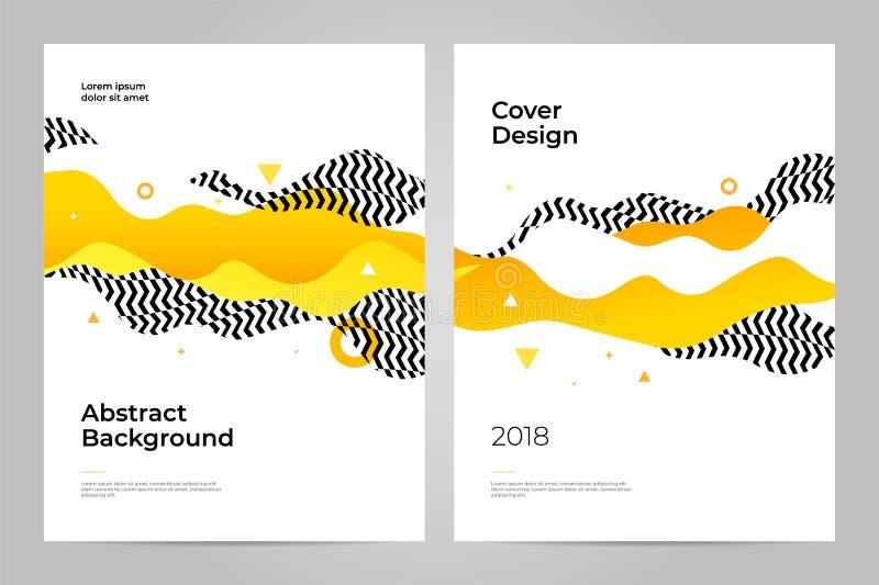 Okładkowy projekt abstrakcyjny tło Układu projekta szablon royalty ilustracja