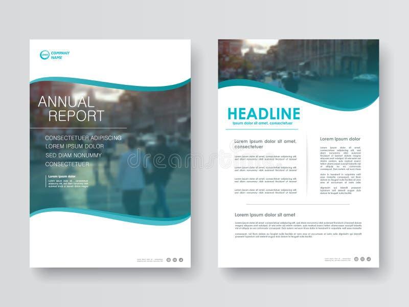 Okładkowy projekta sprawozdanie roczne royalty ilustracja