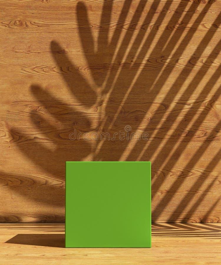 Okładkowy projekta A4 szablon ustawiający z Zielonym tłem, eco koloru gradientu abstrakcjonistyczny nowożytny różny styl dla deko royalty ilustracja