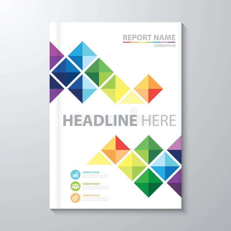 Okładkowy sprawozdanie roczne ilustracji