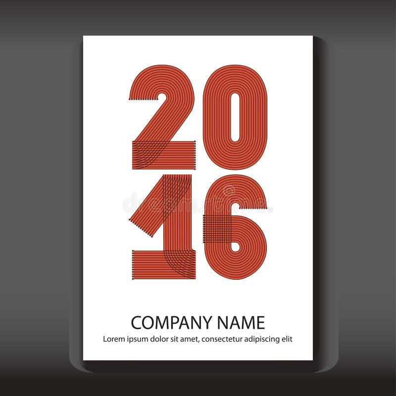 Okładkowy sprawozdanie roczne liczy 2016, nowożytny projekt ilustracja wektor