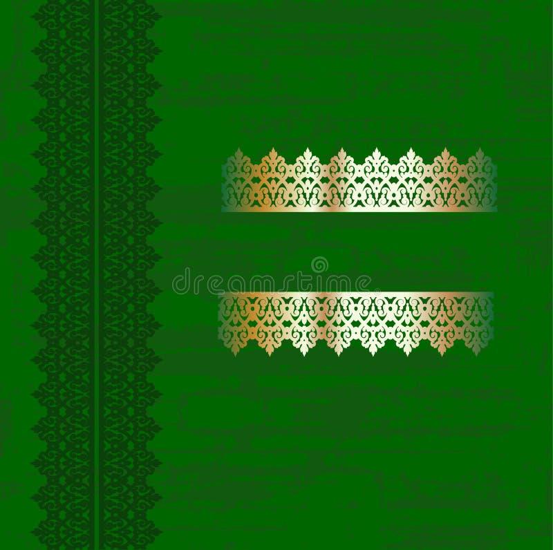 okładkowy złota zieleni grunge ilustracja wektor