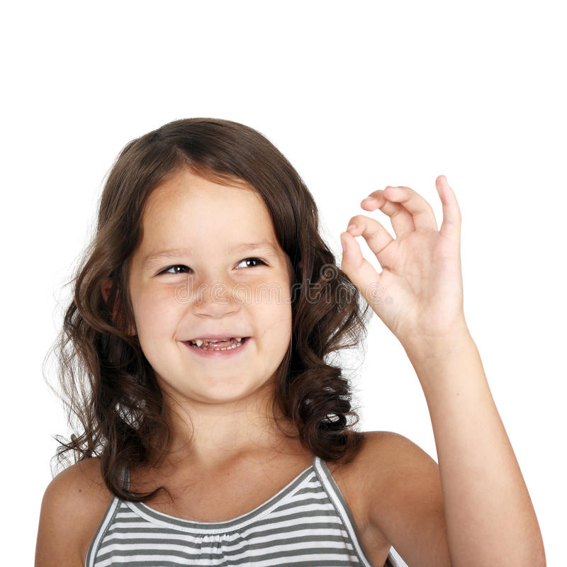 Download OK stock image. Image of fingers, person, child, adorable - 16722121