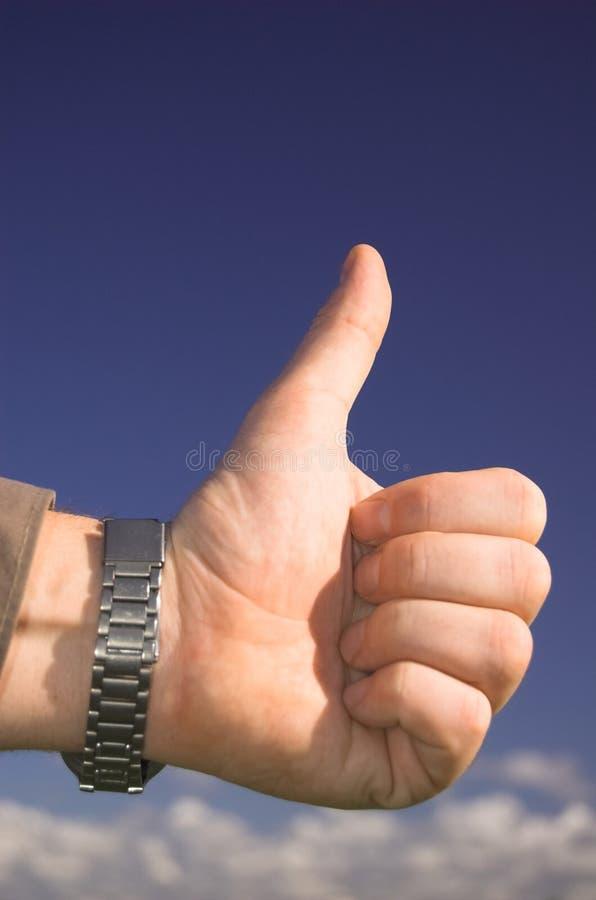 OK!. OK hand sign royalty free stock photos
