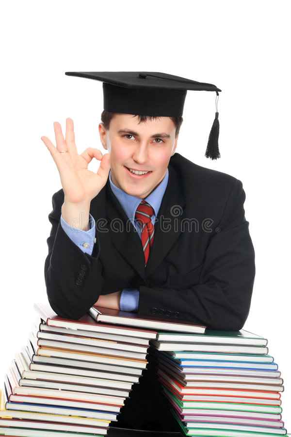 Download Ok stock photo. Image of academic, books, achiever, male - 9036612