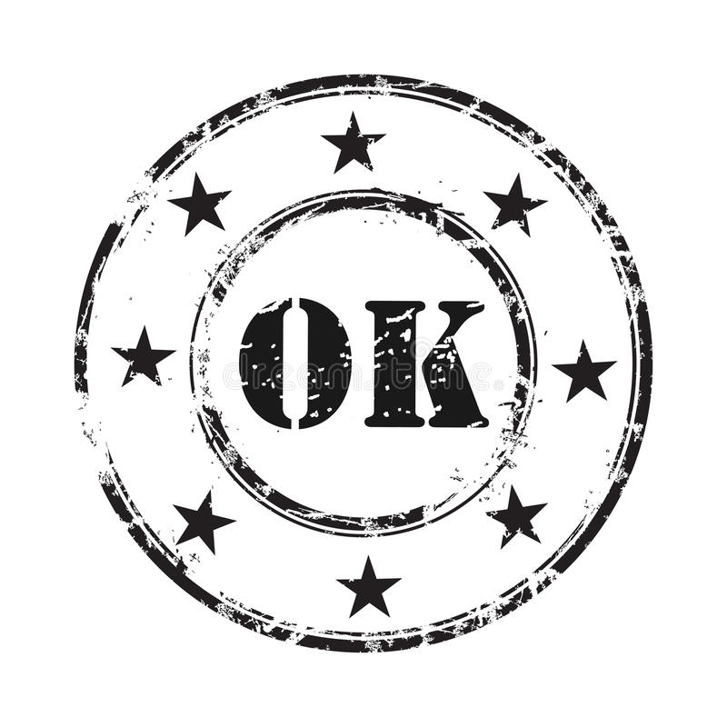 Ok abstract grunge rubber stamp background vector illustration
