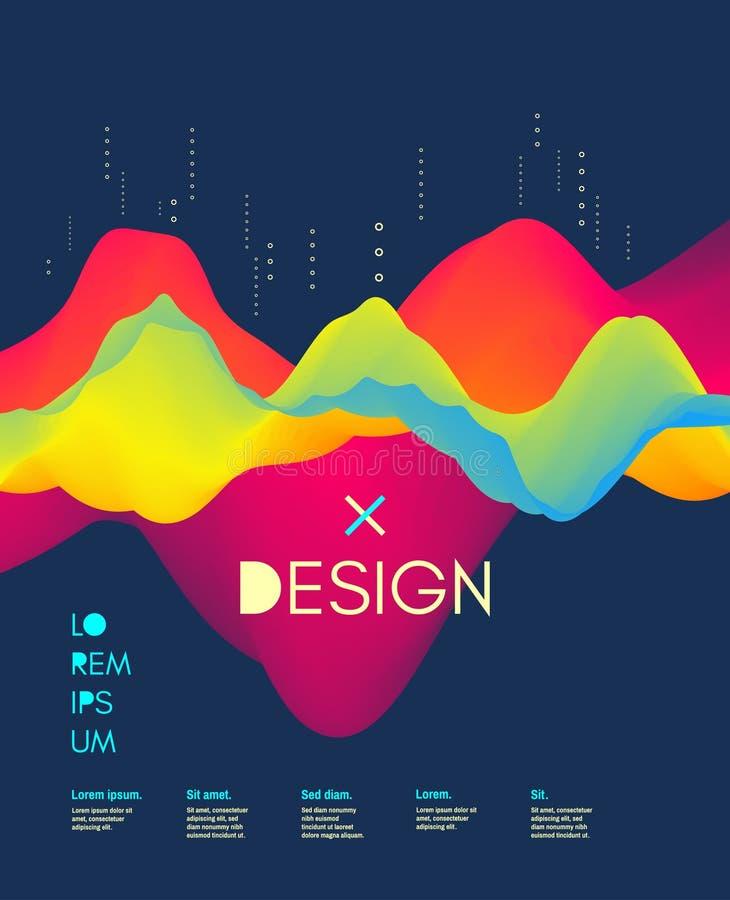 Ok?adkowy projekta szablon Abstrakcjonistyczny t?o z koloru gradientem Obowiązujący dla plakatów, ulotki, sztandary, książkowe po ilustracja wektor