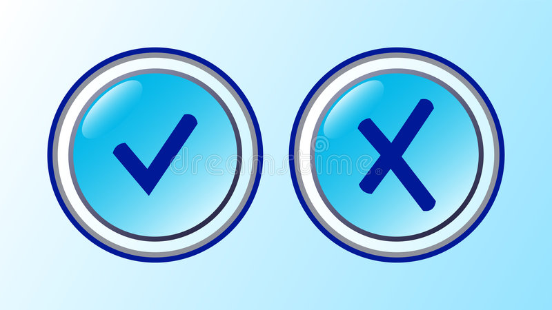 Download Ok and cancel icons stock illustration. Illustration of vector - 5648310