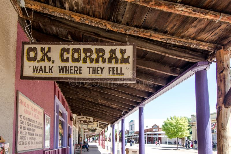 Ok Corral In Tombstone Arizona fotografia stock
