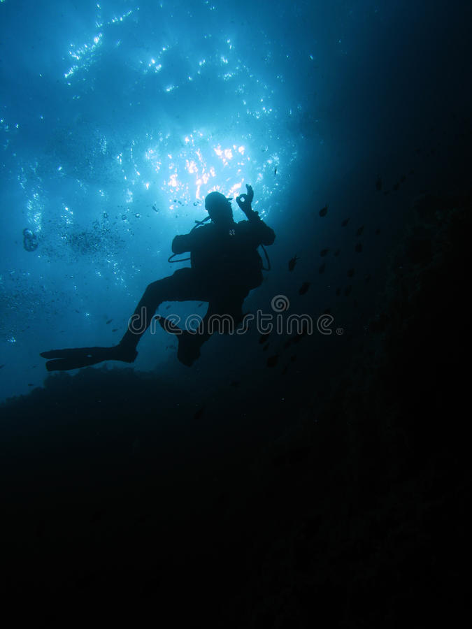 Free OK Diver Royalty Free Stock Photo - 10801025
