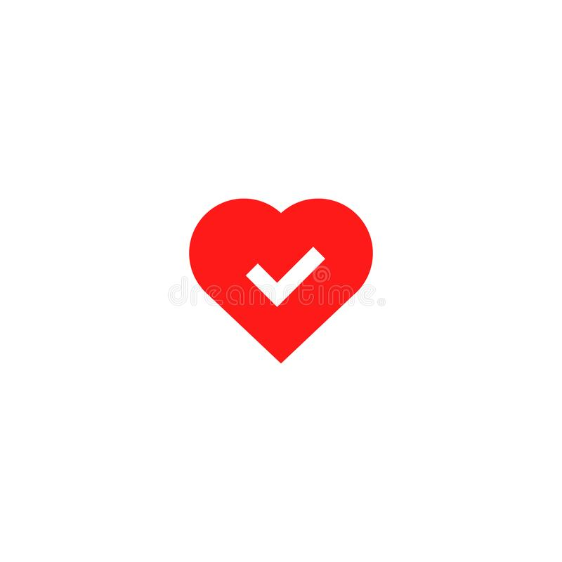 Ok good heart health icon vector illustration