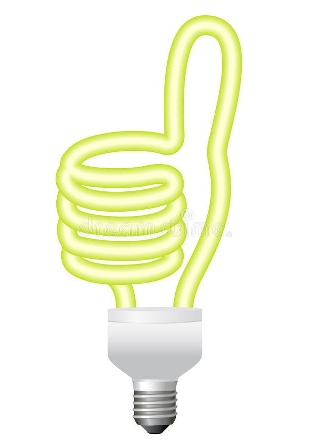 Download Ok hand bulb, vector stock vector. Image of intelligence - 21200420