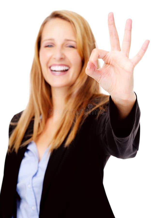 Ok Hand Gesture Royalty Free Stock Image
