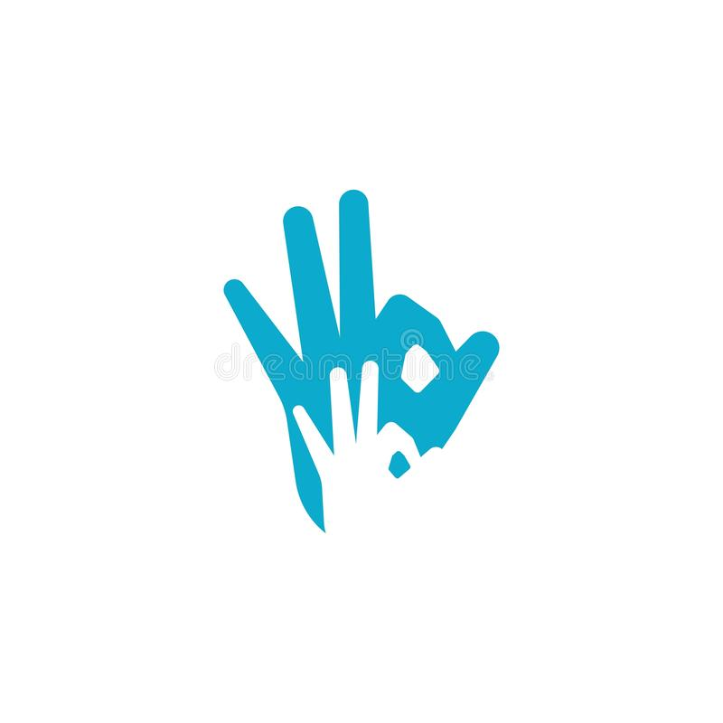 OK hand gesture ilustration royalty free illustration