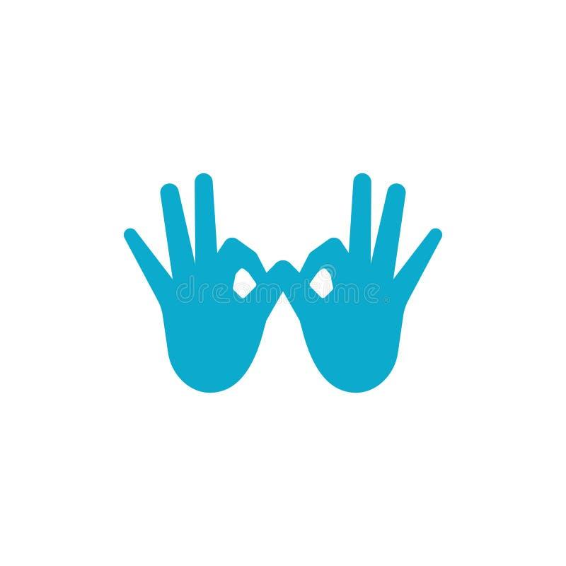 OK hand gesture ilustration. Logo vector, icon, good, symbol, illustration, sign, finger, design, abstract, isolated, concept, okay, human, creative, logotype vector illustration