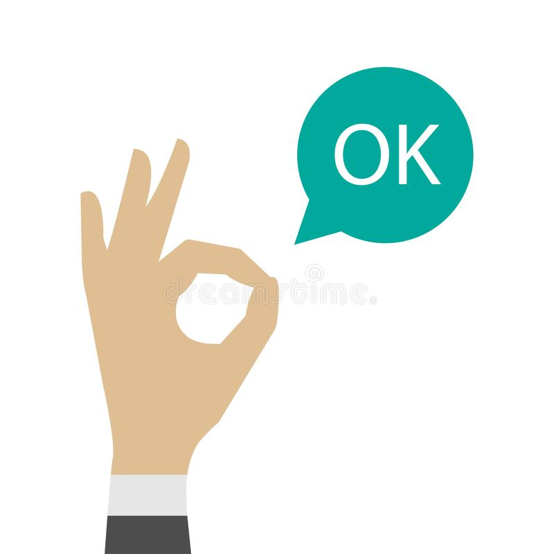 Free Ok Hand Icon. OK Sign Vector Illustration Royalty Free Stock Photos - 141788468