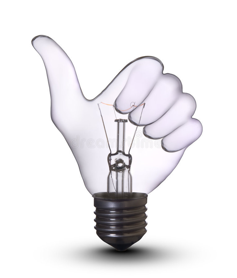Download Ok hand lamp bulb stock photo. Image of bright, bulb, idea - 8325206