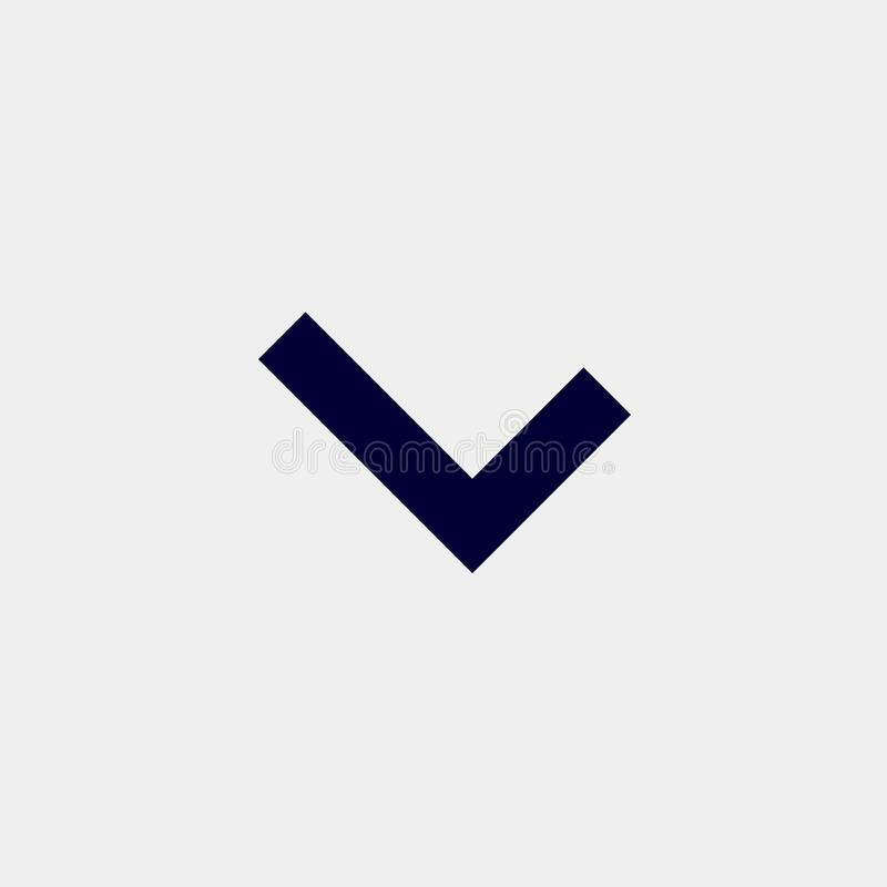 Ok icon. Illustration dark blue icon royalty free illustration
