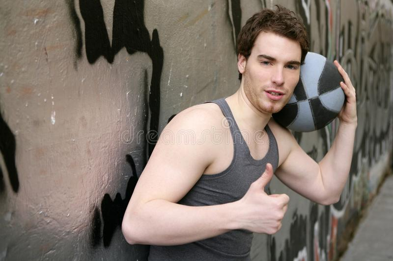 Download Ok Okay Finger Gesture Young Male Basket Player Stock Image - Image: 14271143