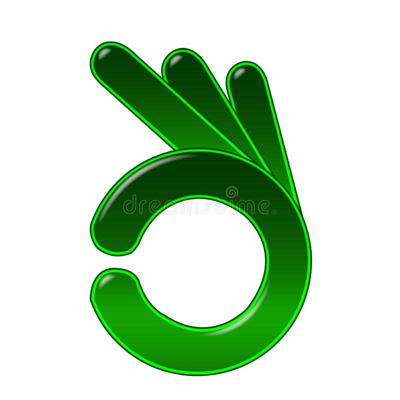 Ok ręka symbol royalty ilustracja