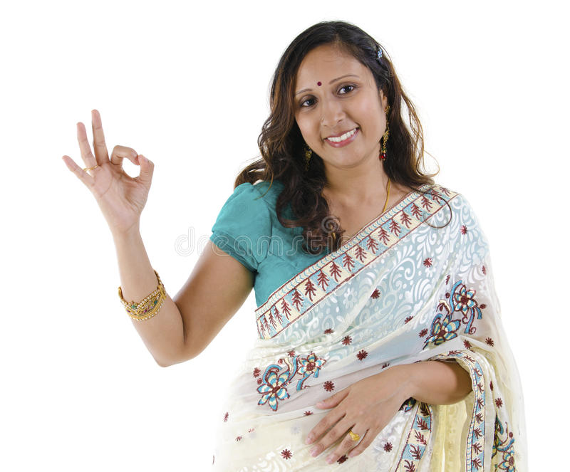 Download Ok sign stock photo. Image of india, dress, friendly - 25180514