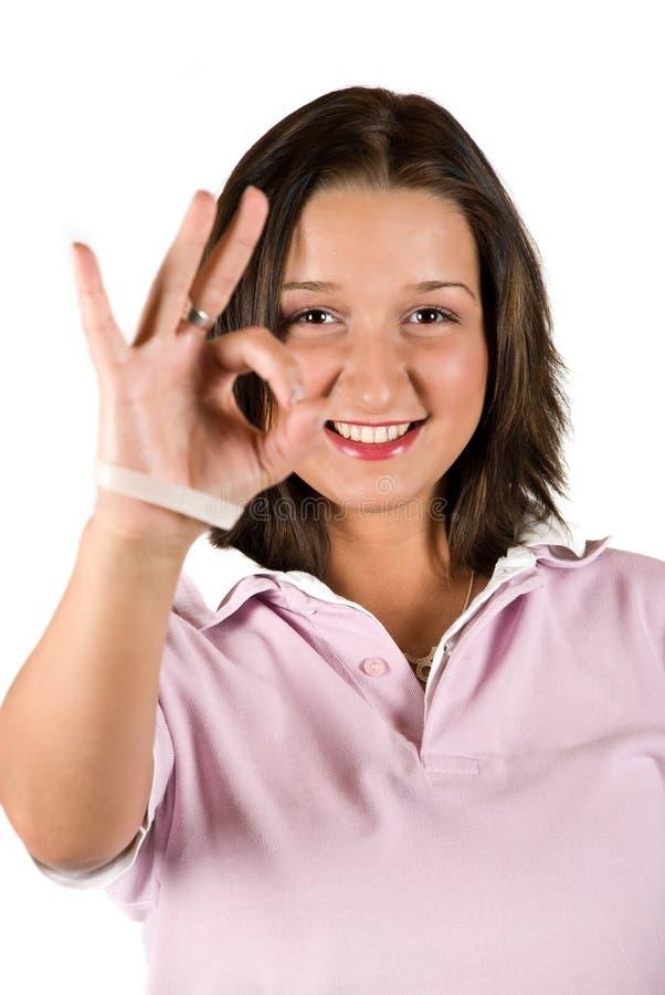 Ok Sign Teenage Royalty Free Stock Image