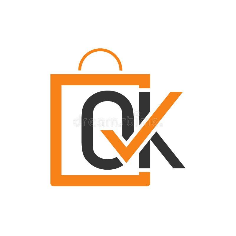 OK sklepowy logo projekta szablon royalty ilustracja
