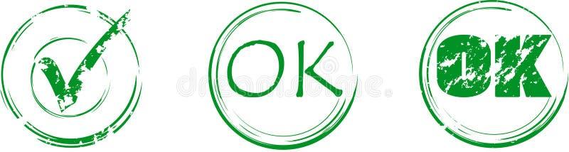 Ok stamps vector illustration