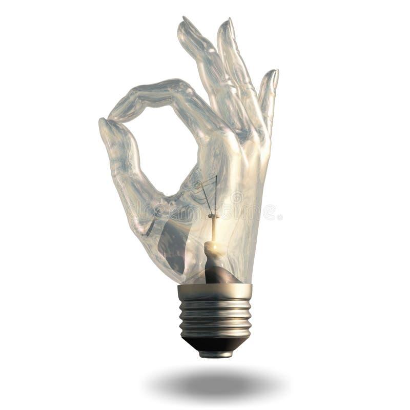 OK Symbol Light bulb royalty free illustration