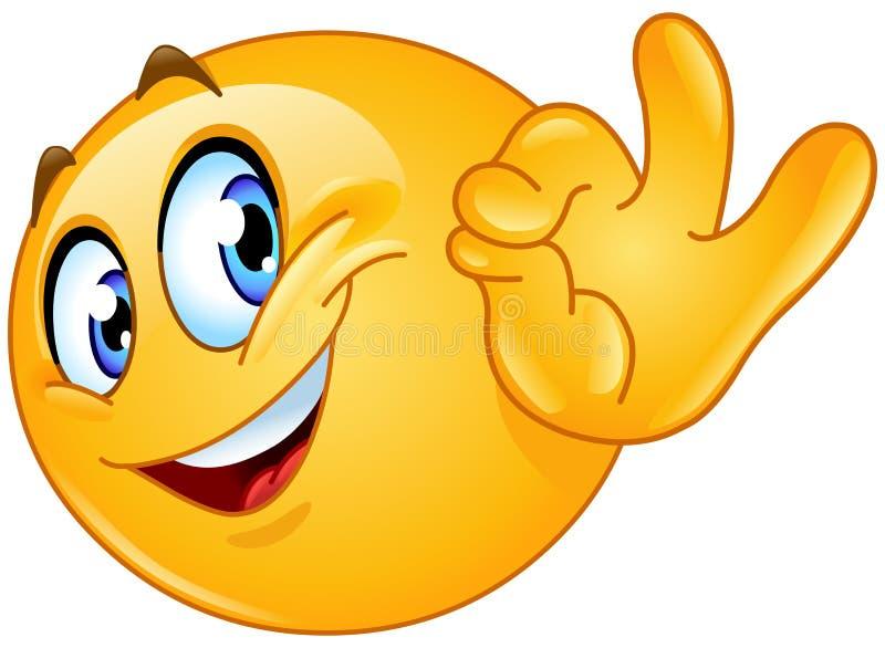 Ok szyldowy emoticon ilustracja wektor