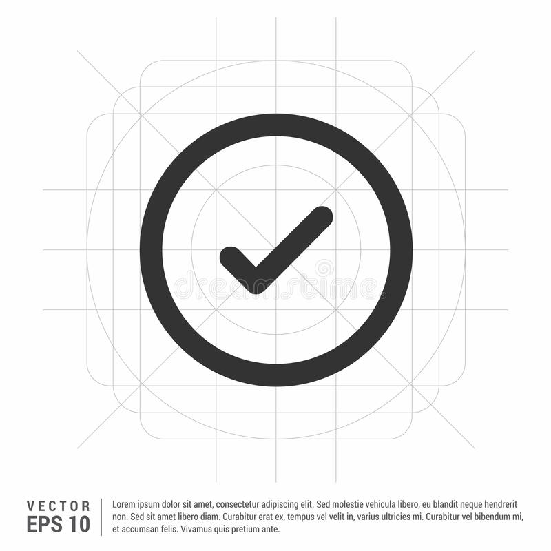 Ok tick icon. This Vector EPS 10 illustration is best for print media, web design, application design user interface and infographics with well composed vector illustration