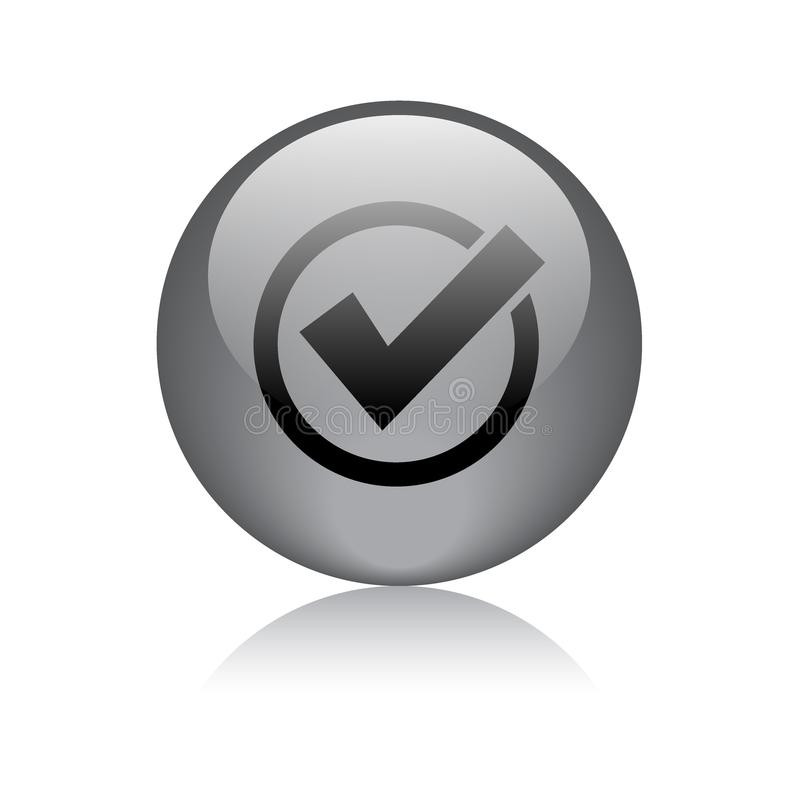 Ok yes approved button royalty free illustration