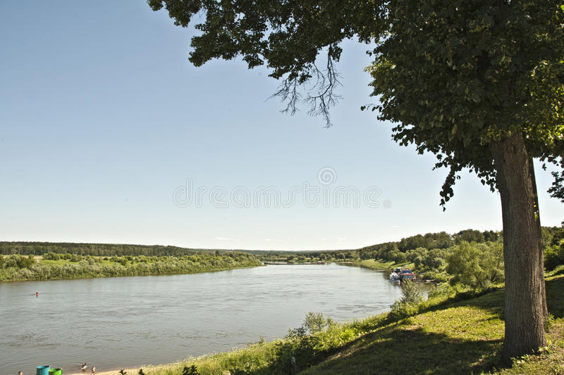 Download Oka Fluss in Tarusa stockfoto. Bild von landschaft, wasser - 26351232